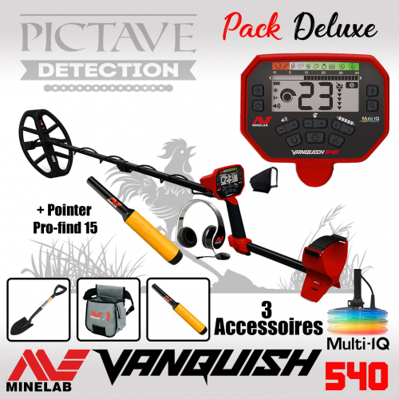 Minelab Vanquish 540 Pack Deluxe