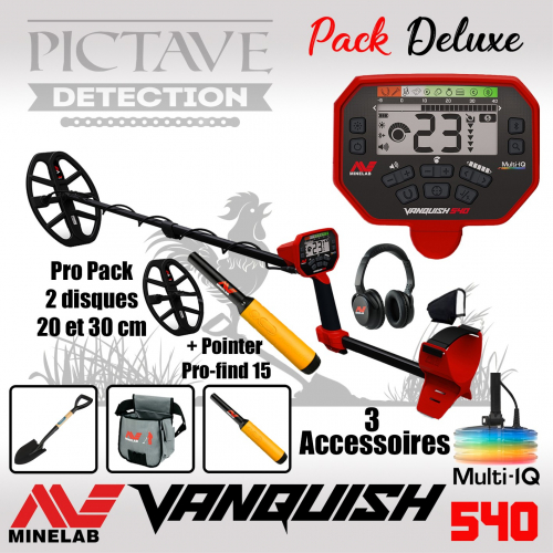 Minelab Vanquish 540 Pro 2 Disques Pack Deluxe