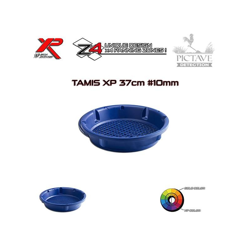 TAMIS D'ORPAILLAGE EN 37 CM - 10 MM XP GOLD CLASSIFIER