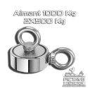 Aimant 1000 KG ( 2X500) double face