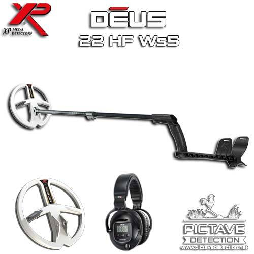 XP DEUS PACK LITE 22 HF WS5 + Pictave Protect