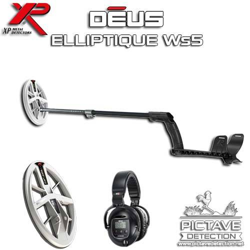 XP DEUS PACK LITE Elliptique HF WS5 + Pictave Protect