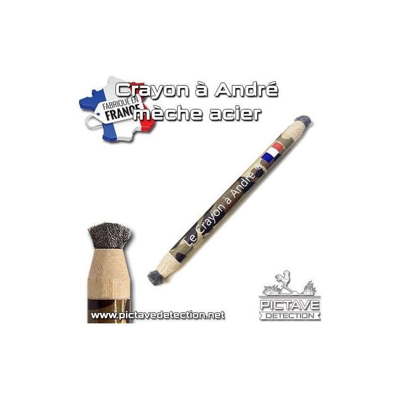 Crayon d'andré meches acier 000