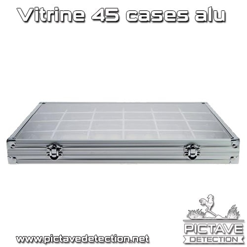 vitrine alu miniatures 45 cases