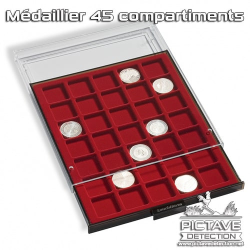 Médaillier 45 compartiments