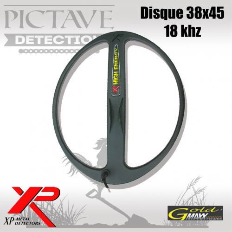Disque XP 38X45 elliptique 18 kHz