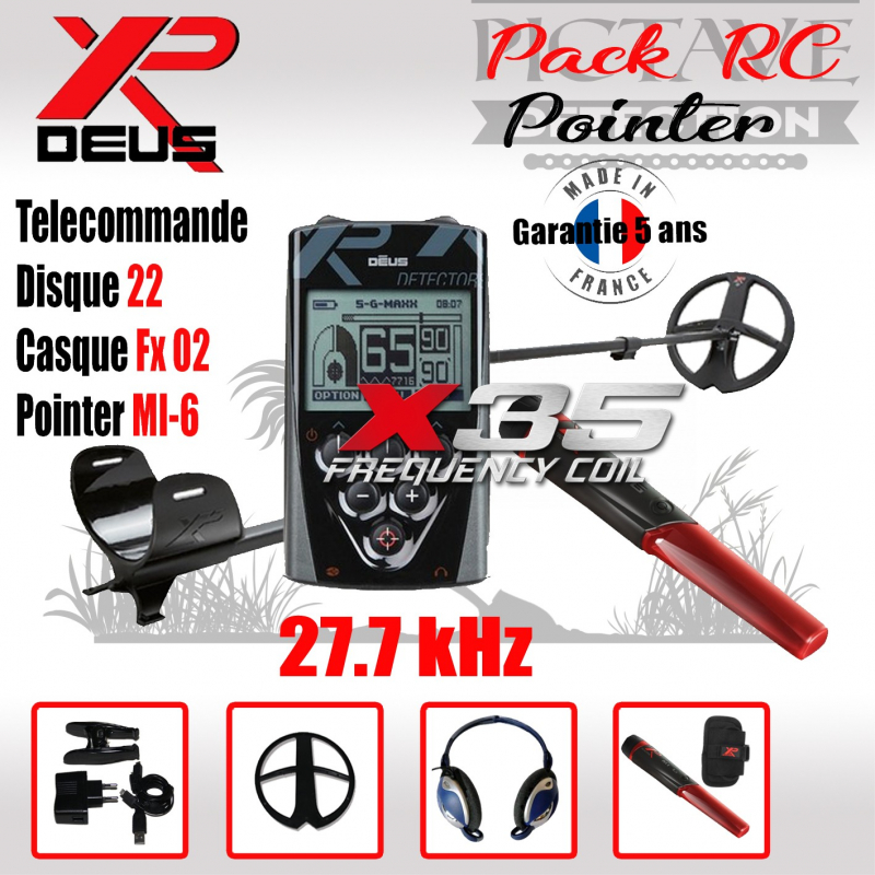XP DEUS Pack RC Pointer 22