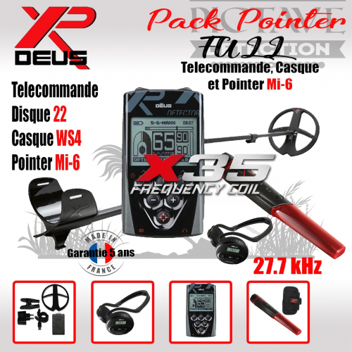 XP DEUS Full Pack Pointer 22 WS4
