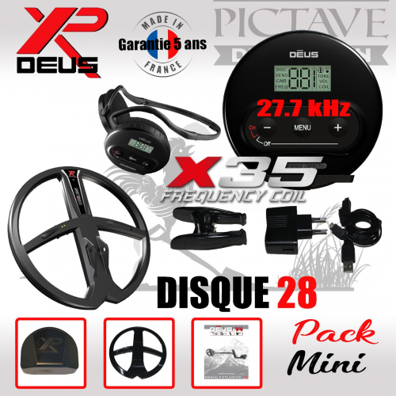 XP DEUS Pack Mini 28 WS4