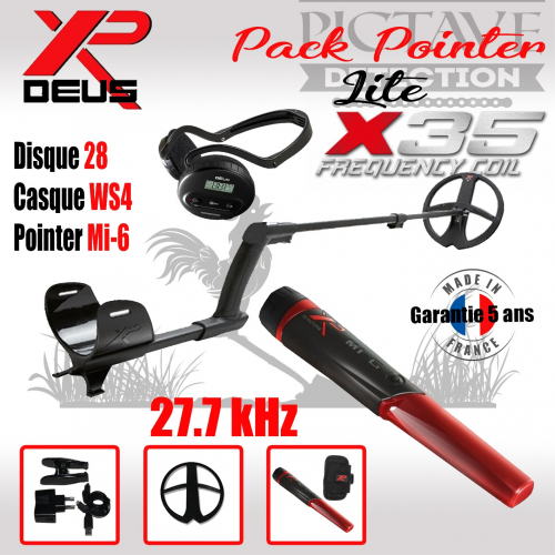 XP DEUS Lite Pack Pointer 28 WS4