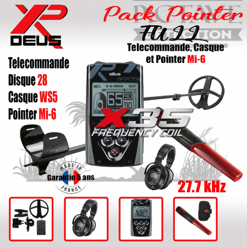 XP DEUS PACK POINTER 28 WS5