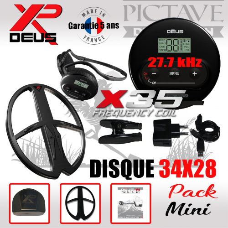 XP DEUS PACK MINI 34x28 WS4