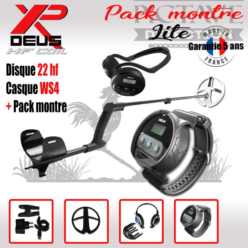 XP DEUS LITE PACK MONTRE 22 HF WS4
