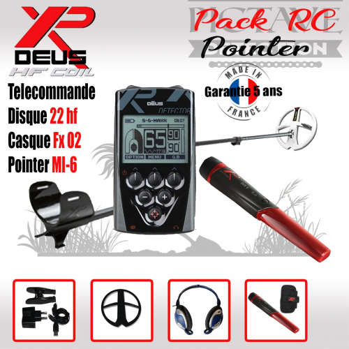 XP DEUS PACK RC 22 HF POINTER