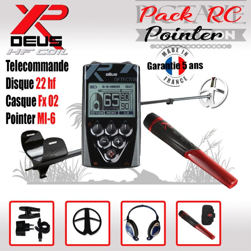 XP DEUS PACK RC 22 HF POINTER