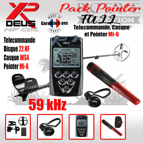 XP DEUS PACK full POINTER 22 HF WS4