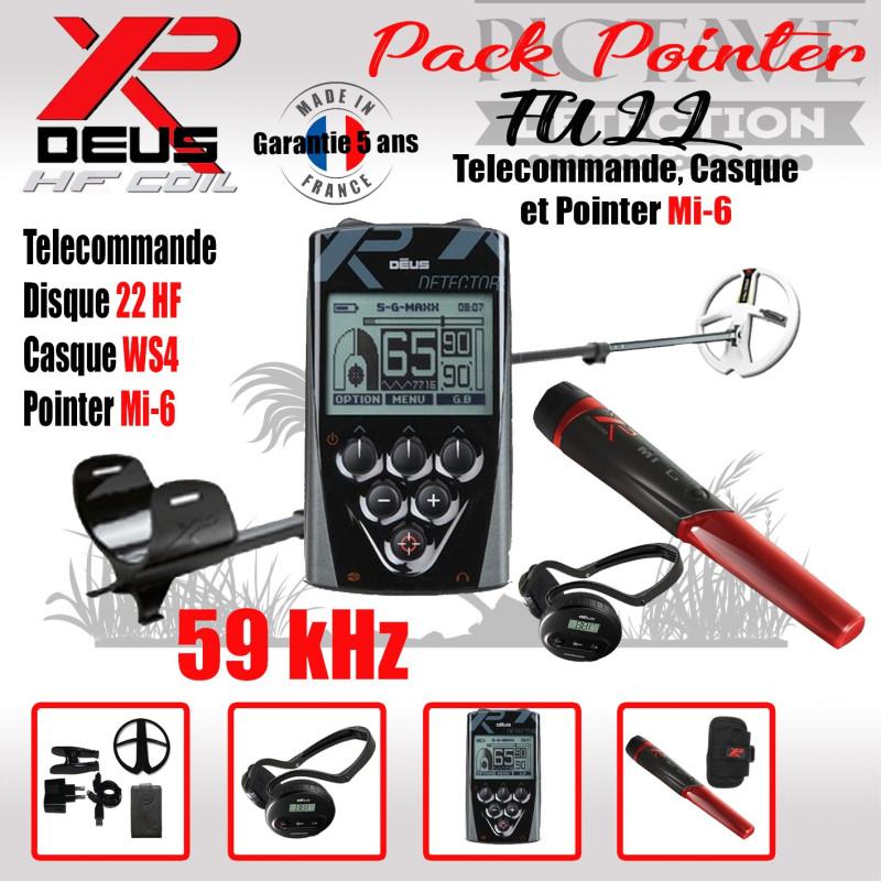 XP DEUS PACK full POINTER 22 HF WS4