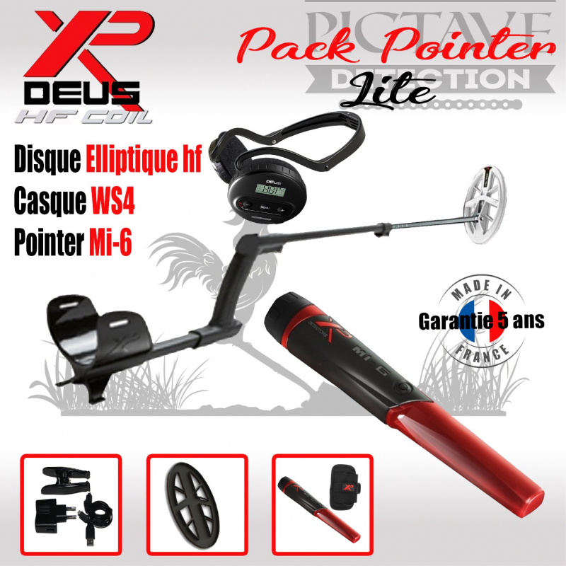 XP DEUS PACK LITE POINTER Elliptique HF
