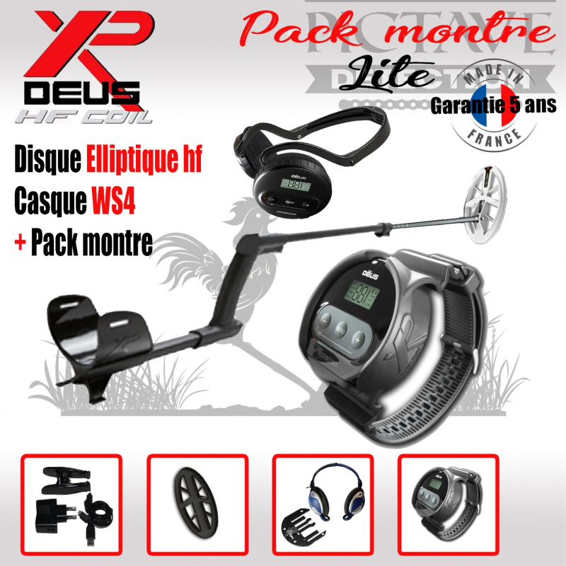 XP DEUS PACK LITE MONTRE Elliptique HF WS4