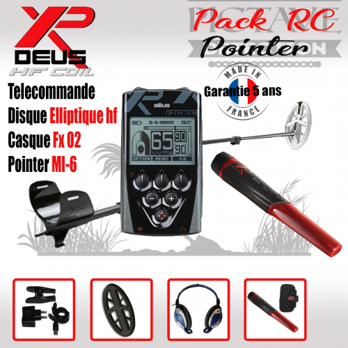 XP DEUS PACK RC POINTER Elliptique HF