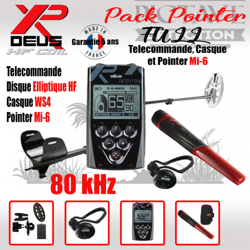 XP DEUS PACK FULL POINTER Elliptique HF WS4