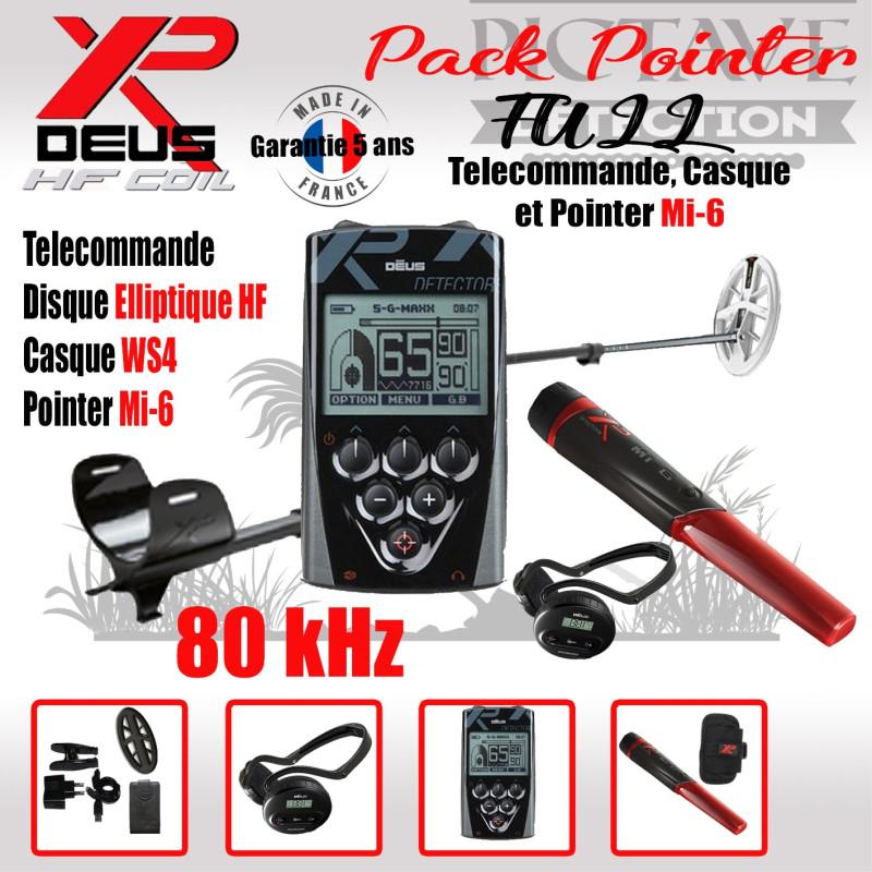 XP DEUS PACK FULL POINTER Elliptique HF WS4