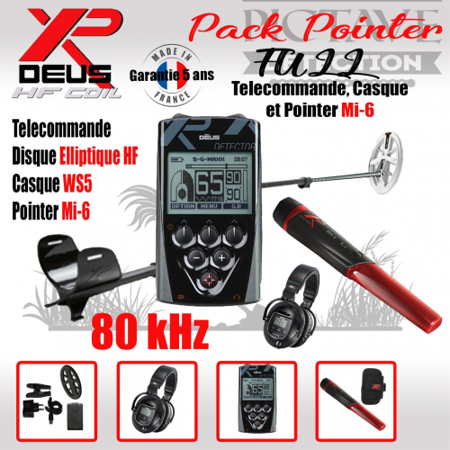 XP DEUS PACK FULL POINTER Elliptique HF WS5