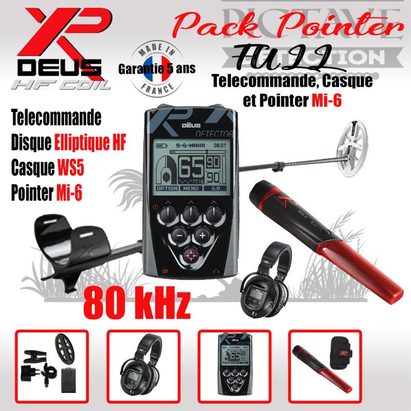 XP DEUS PACK FULL POINTER Elliptique HF WS5