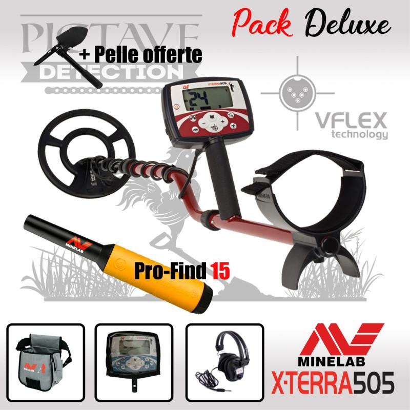 Minelab X-TERRA 505 pack deluxe