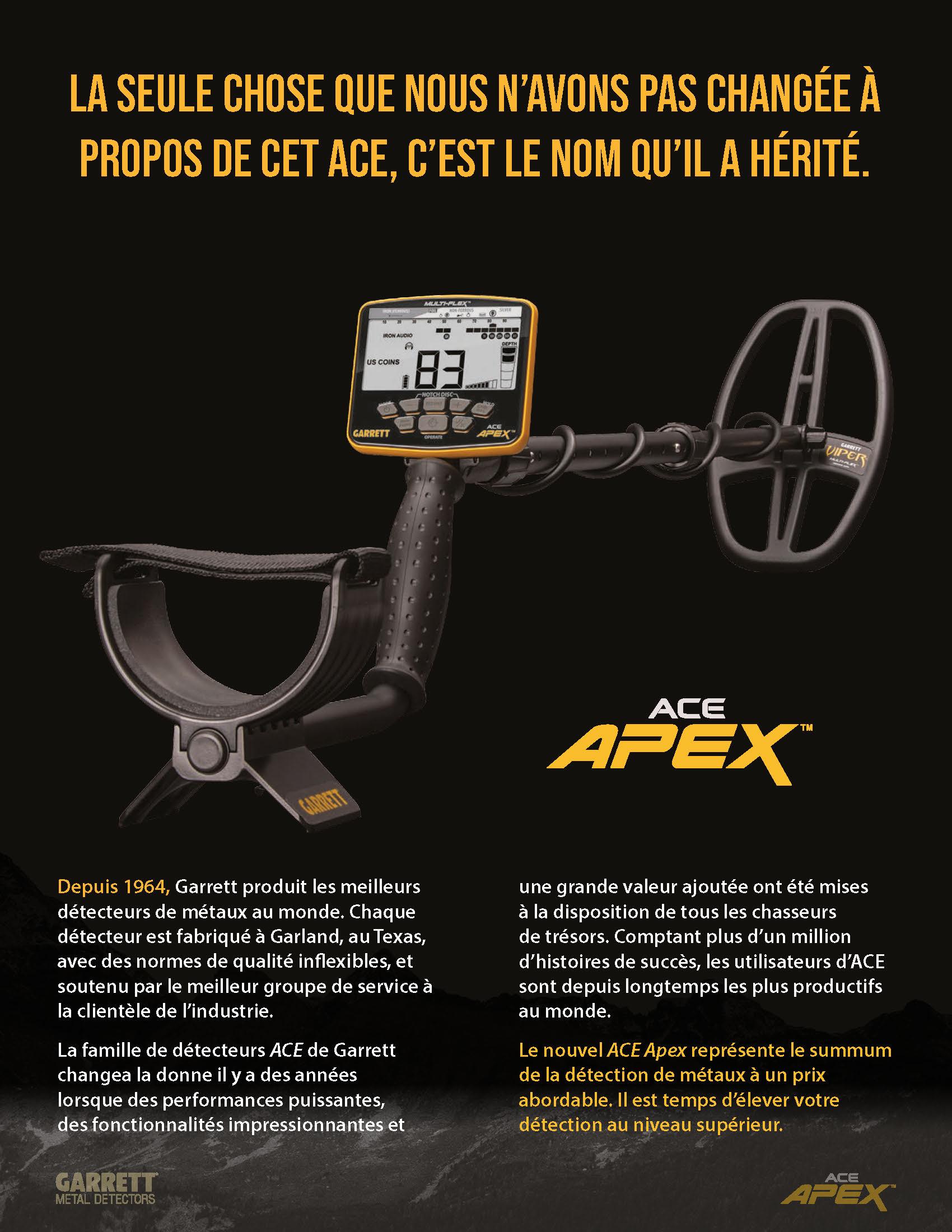 Apex metal detector