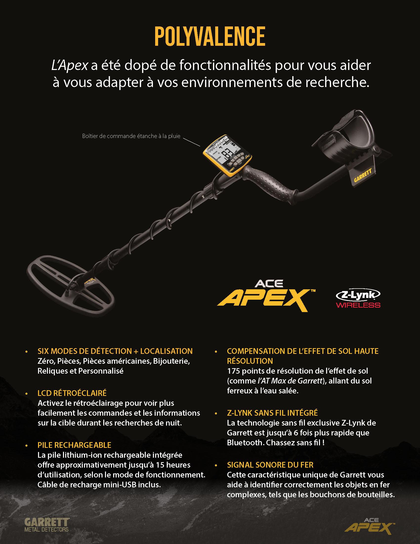 apex metal detector garrett